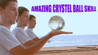 AMAZING CONTACT JUGGLING--HIS SKILL ARE TOTALLY HYPNOTIZING