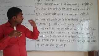 SELF INTRODUCTION - part - 1  English (spoken ) Through Hindi.  Grammar.