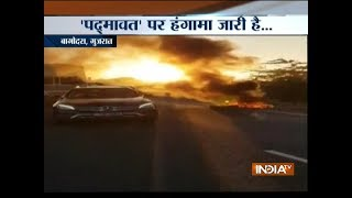 Padmaavat row: Protesters torch vehicles, block national highway near Ahmedabad