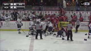 Acadia Vs STFX Hockey Brawl - Feb 2, 2019