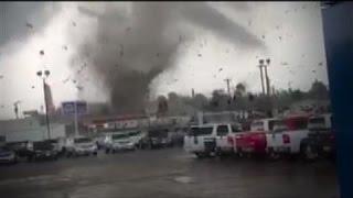 Tornado Rips Through Parking Lot in Kentucky