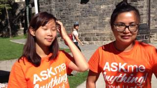"U of T News visits the ""Ask Me Anything"" booth"