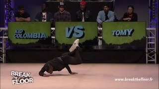 Break The Floor 2015 | powermove qualifiers Kid Colombia VS Tomy