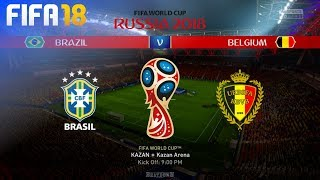 FIFA 18 World Cup - Brazil vs. Belgium @ Kazan Arena