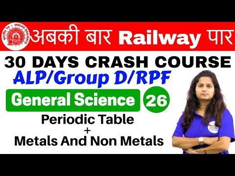 Xxx Mp4 12 00 PM Railway Crash Course GS By Shipra Ma Am Day 26 Periodic Table Metals And Non Metals 3gp Sex