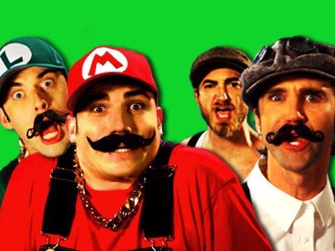 Epic Rap Battles of History.  Behind the Scenes.  Mario Bros vs Wright Bros.