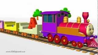 ABCD Alphabet Train song - 3D Animation Alphabet ABC Train Songs for children