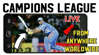 मोबाइल में ICC champions trophy 2017 live on Android from India, Pakistan, Saudi