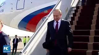 Vladimir Putin arrives in Tehran for talks with Iran, Azerbaijan
