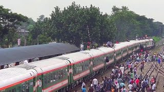 Newly Added Train Silk City Express Entering & Departing Dhaka Airport Station