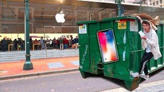 FOUND AN IPHONE X APPLE STORE DUMPSTER DIVING! | David Vlas