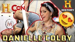 Danielle Colby of American Pickers shows her Aerial Hoop skills at History Con 2017