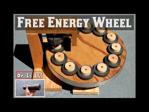 FREE ENERGY WHEEL Using Ring Magnets EXPOSED