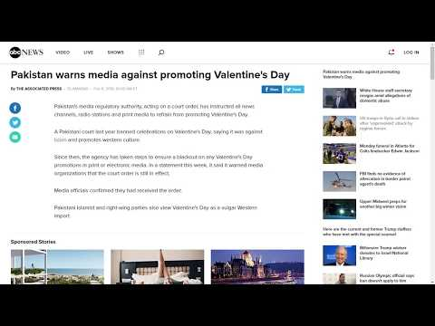 Xxx Mp4 Pakistan Warns Media Against Promoting Valentine S Day Text Only No Sound 3gp Sex