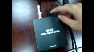 HPC HDMI Over Coax Extender with IR and Cascade Test Demo