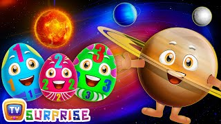 Surprise Eggs Learning Space - Planets Of The Solar System – Sun, Moon, Earth & Stars - ChuChu TV
