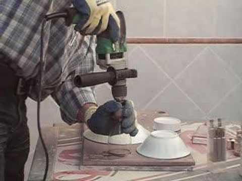 taladrar vaso de cristal Glass drill