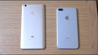 Xiaomi Mi Max 2 vs iPhone 7 Plus iOS 11 Beta 2 - Which is Fastest?