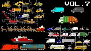 Vehicles Collection Volume 7 - Street Vehicles, Puzzles & Patterns - The Kids