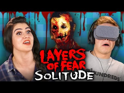 HORROR IN VR Layers of Fear Solitude Teens React Gaming