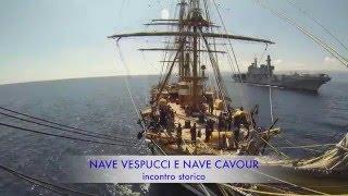 Marina Militare - La Signora dei Mari incontra Nave Cavour
