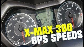 2017 Yamaha XMAX 300 GPS speeds
