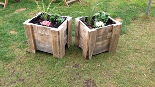 Building a pallet planter
