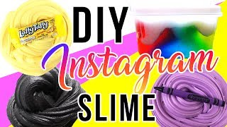DIY Instagram Slime Tested! Laffy Taffy Slime, Rainbow Avalanche Slime, Crayon Slime!!!