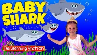 Baby Shark Song ♫ Paige❤ Baby Shark & Camp Songs ♫ Action & Dance Kids Songs by The Learning Station