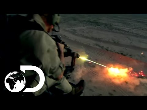 Helicopter Minigun in Action Firing Shooting Training ...