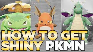 How to Get Shiny Pokemon in Pokemon Let's Go Pikachu & Eevee