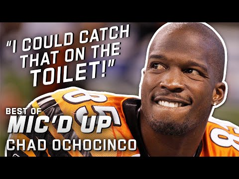 I could catch that on the toilet Best of Chad Ochocinco Johnson Mic d Up