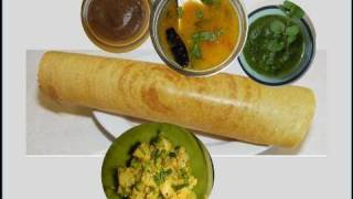 How to make Crispy Dosa Video Recipe - Rice and lentil crepes by Bhavna