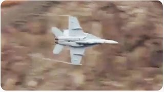 F-18 Fighter Jets Passing By | Death Valley Birds