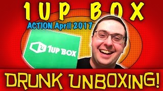 DRUNK UNBOXING! 1Up Box April 2017 - ACTION - Pirates of the Caribbean, Guardians of the Galaxy