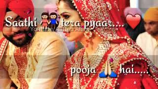 Saathi tera Pyaar Pooja hai Romantic love old song whatsapp status video