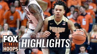 Purdue vs Illinois | Highlights | FOX COLLEGE HOOPS