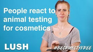 Watch people react to photos of animal testing for cosmetics #BeCrueltyFree