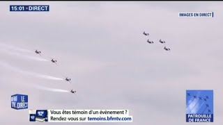 Regardez le ballet aérien de la Patrouille de France
