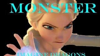 Monster - Imagine Dragons/Frozen Music Video