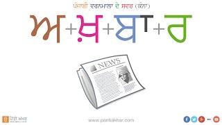 Punjabi Alphabet Vowels - Kanna