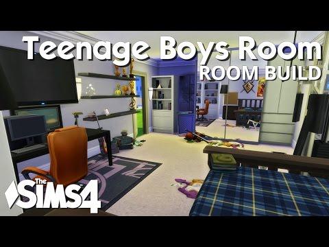 The Sims 4 Room Build - Teenage Boys Bedroom