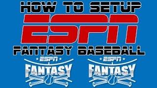 How to Setup an ESPN Fantasy Baseball League