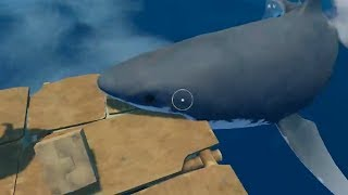 Desperately Trying To Not Get Eaten By Sharks In Raft Ft. Unicornowl