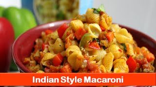 Macaroni pasta recipe|simple easy Indian style vegetarian recipes|dinner lunch idea-letsbefoodie.com