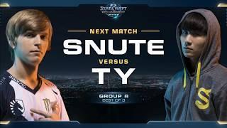 TY vs Snute TvZ - Group A - WCS Global Finals 2017 - StarCraft II