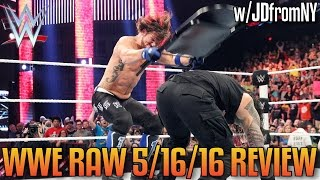 WWE Raw 5/16/16 Review: AJ Styles FINALLY Beats Down Roman Reigns In A Brutal Steel Chair Attack
