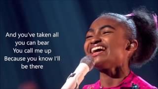 Jasmine elcock True Colors Phil Collins on Britain's Got Talent 2016 amazing Performance