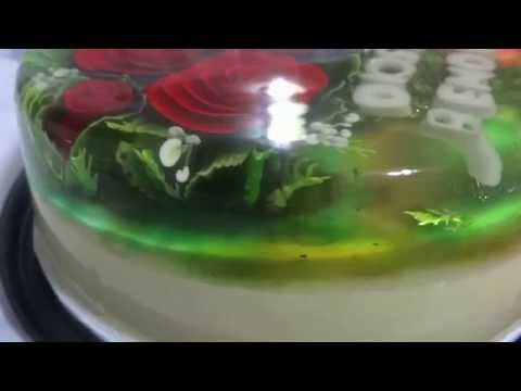 Ramo de flores en gelatina