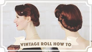 Vintage Roll How to // Easy Vintage Hair [CC]
